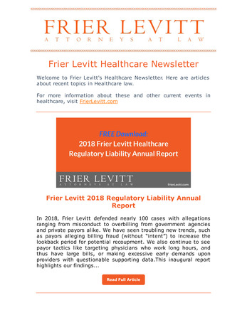 Frier Levitt Healthcare Image